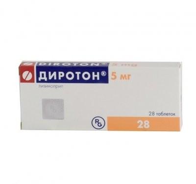 Диротон таблетки 5мг №28 купить в Москве по цене от 197 рублей