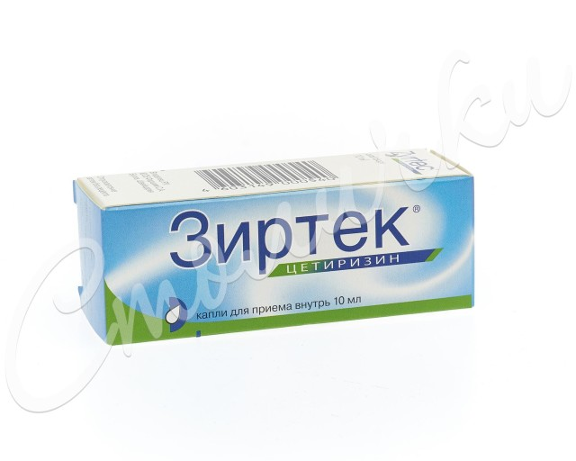 Зиртек капли внутрь 10мг/мл 10мл купить в Москве по цене от 102.5 рублей