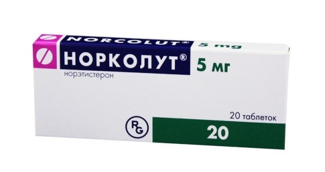 Норколут таблетки 5мг №20 купить в Москве по цене от 124.5 рублей