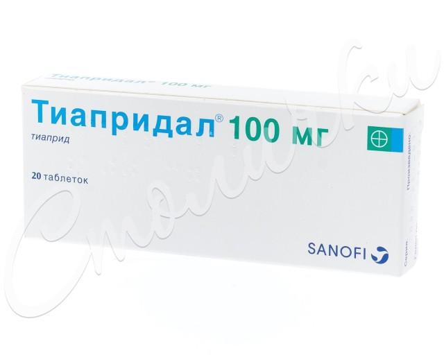 Тиапридал таблетки 100мг №20 купить в Москве по цене от 1410 рублей