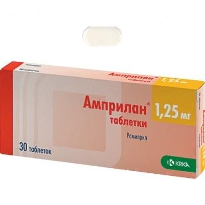 Амприлан таблетки 1,25мг №30 купить в Москве по цене от 275 рублей