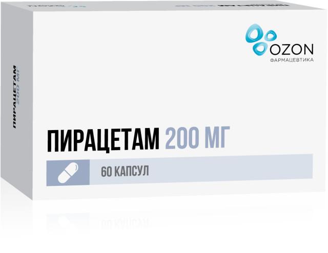 Пирацетам таблетки 200мг №60 купить в Москве по цене от 72.5 рублей