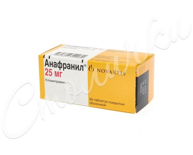 Анафранил таблетки п.о 25мг №30 купить в Москве по цене от 300 рублей