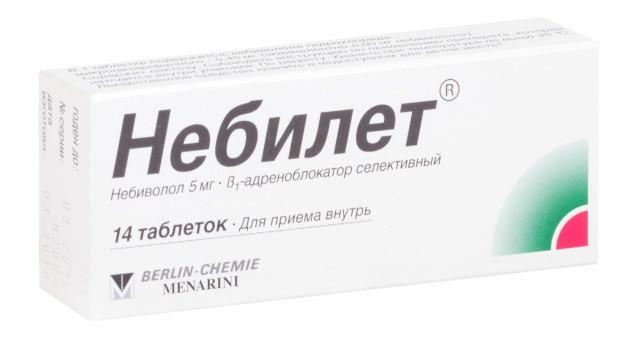 Небилет таблетки 5мг №14 купить в Москве по цене от 801 рублей