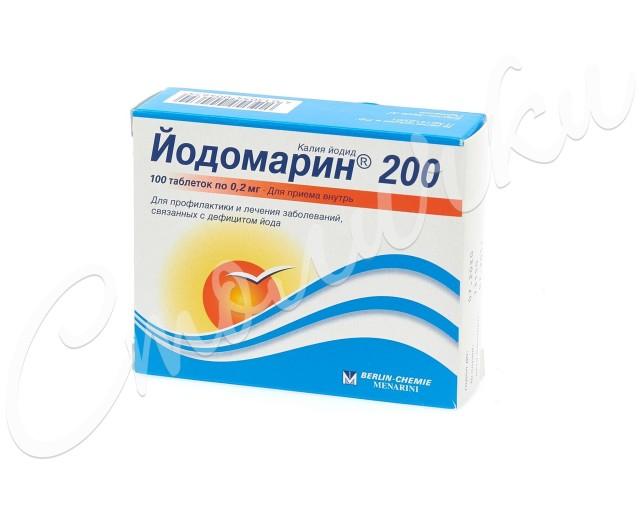 Йодомарин 200 таблетки №100 купить в Москве по цене от 202 рублей