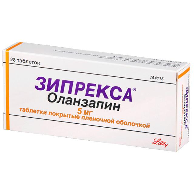 Зипрекса таблетки п.о 5мг №28 купить в Москве по цене от 2190.5 рублей