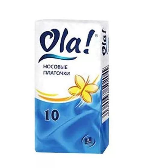 Ола платочки бумажн. ромашка №10 купить в Москве по цене от 12 рублей