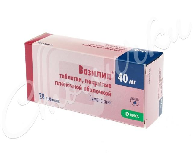 Вазилип таблетки п.о 40мг №28 купить в Москве по цене от 294.7 рублей
