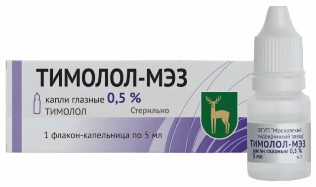 Тимолол МЭЗ капли глазные 0,5% 5мл купить в Москве по цене от 26.1 рублей