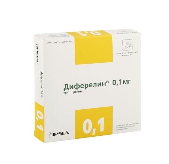 Диферелин лиофилизат для инъекций 0,1мг №7 купить в Москве по цене от 2600 рублей