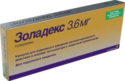 Золадекс капсулы для подкожного введения 3,6мг 1 доз купить в Москве по цене от 4429 рублей