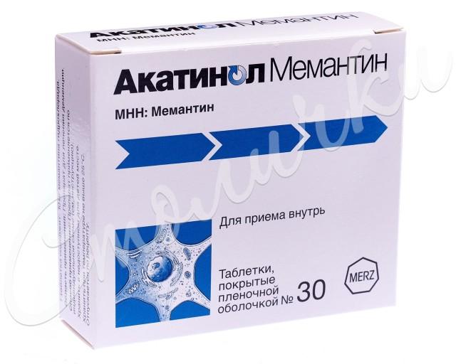 Акатинол Мемантин таблетки п.о 10мг №30 купить в Москве по цене от 1640 рублей