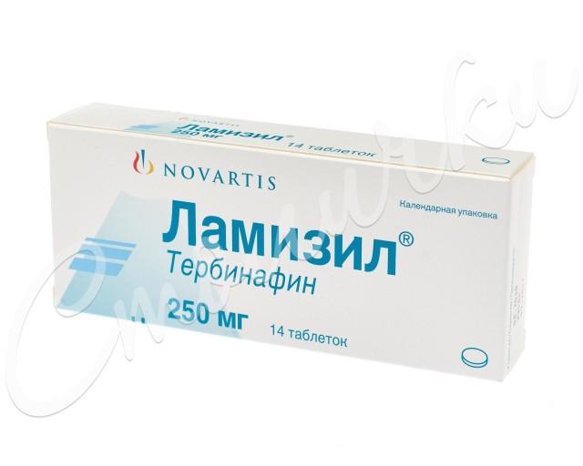 Ламизил таблетки 250мг №14 купить в Москве по цене от 2130 рублей