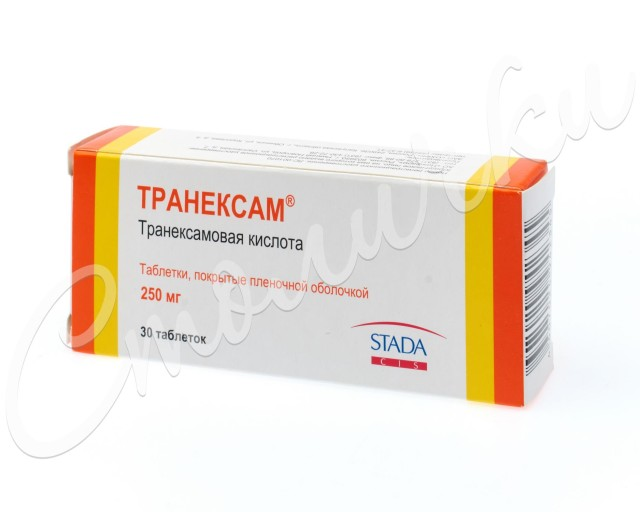 Транексам таблетки п.о 250мг №30 купить в Москве по цене от 543.5 рублей