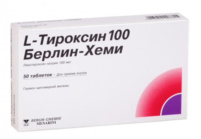Л-Тироксин-Берлин-Хеми таблетки 100мкг №50 купить в Москве по цене от 103 рублей