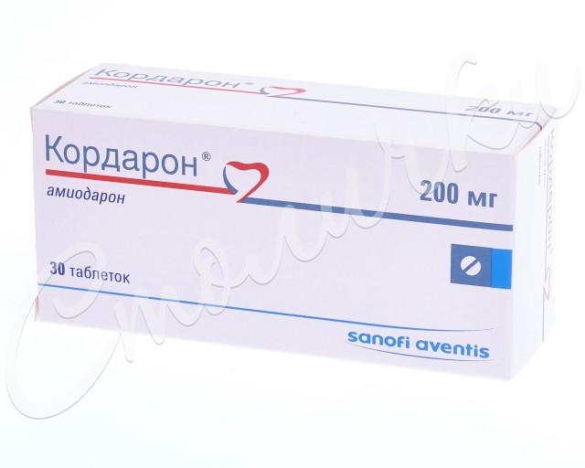 Кордарон таблетки 200мг №30 купить в Москве по цене от 232 рублей