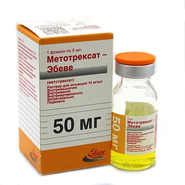 Метотрексат-Эбеве раствор для инъекций 10мг/мл 5мл №1 купить в Москве по цене от 193 рублей