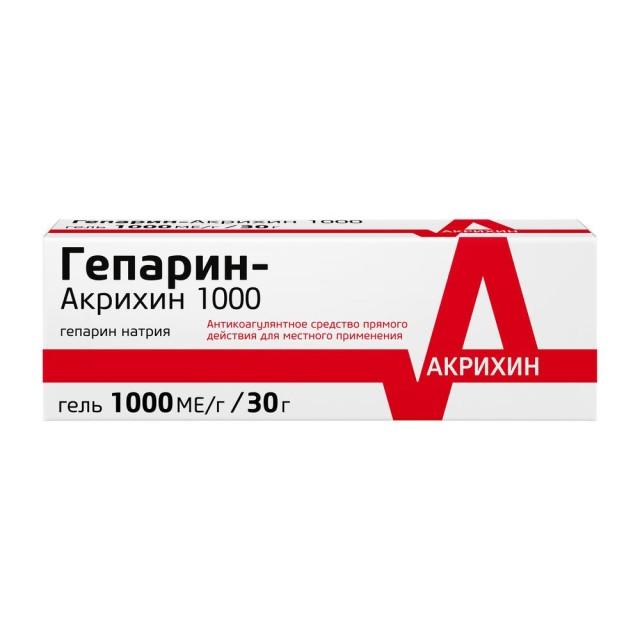 Гепарин 1000 гель 1тыс. МЕ/г 30г купить в Москве по цене от 312 рублей