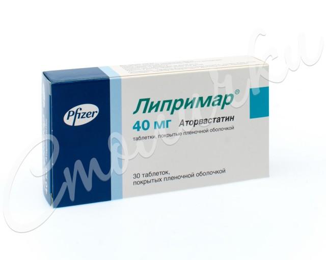 Липримар таблетки п.о 40мг №30 купить в Москве по цене от 558.5 рублей