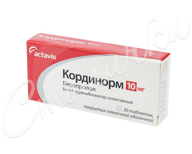 Кординорм таблетки п.о 10мг №30 купить в Москве по цене от 199 рублей