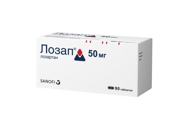 Лозап таблетки п.о 50мг №90 купить в Москве по цене от 703.5 рублей