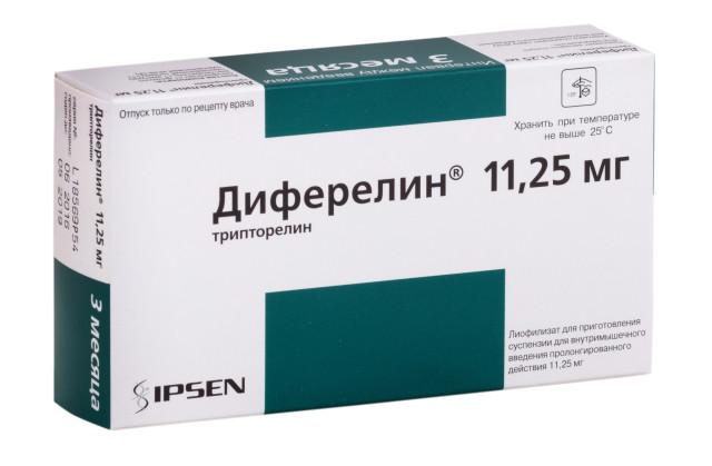 Диферелин лиофилизат для инъекций пролонг. 11,25мг №1 купить в Москве по цене от 18898.5 рублей
