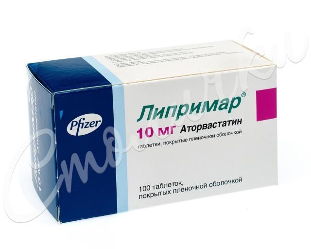 Липримар таблетки п.о 10мг №100 купить в Москве по цене от 662 рублей