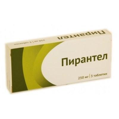 Пирантел таблетки 250мг №3 купить в Москве по цене от 41.4 рублей