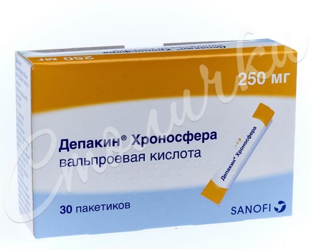 Депакин Хроносфера гранулы пролонгированные 250мг №30 купить в Москве по цене от 267 рублей