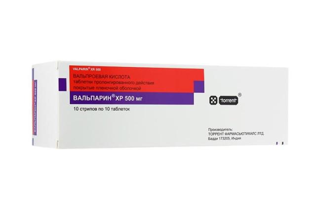 Вальпарин XP таблетки пролонгированные 500мг №100 купить в Москве по цене от 1217 рублей