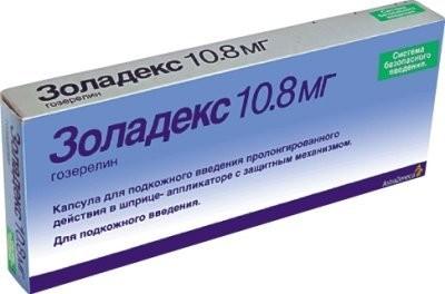 Золадекс капсулы для подкожного введения 10,8мг 1 доз купить в Москве по цене от 13284.5 рублей