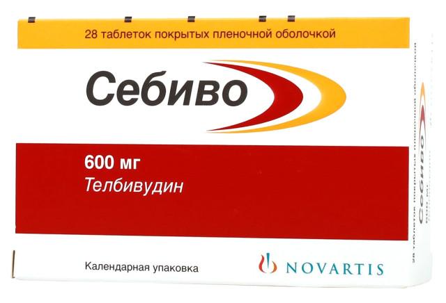 Себиво таблетки п.о 600мг №28 купить в Москве по цене от 0 рублей