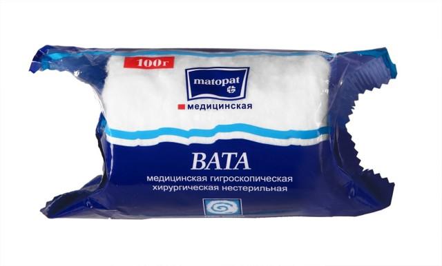 Матопат вата хлопок 100г купить в Москве по цене от 53 рублей