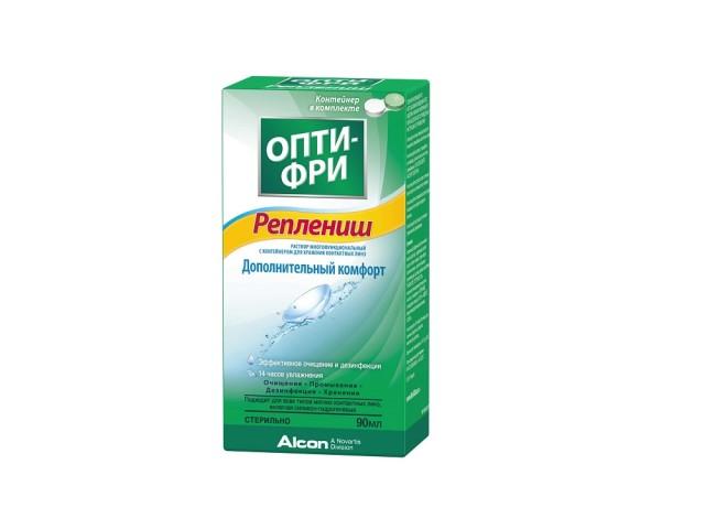 Опти фри реплениш раствор д/линз 90мл купить в Москве по цене от 249 рублей