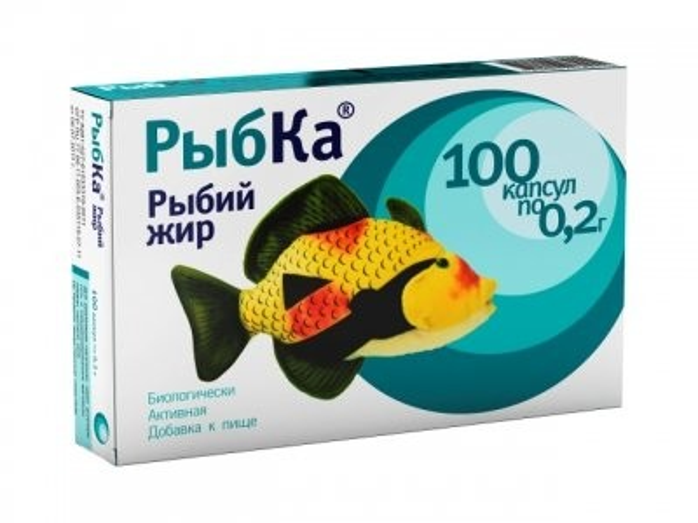 Рыбий жир Рыбка капсулы №100 купить в Москве по цене от 0 рублей