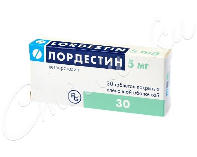Лордестин таблетки п.о 5мг №30 купить в Москве по цене от 778 рублей