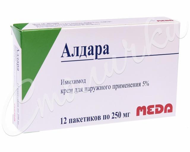 Алдара крем 5% пак. 0,25г №12 купить в Москве по цене от 0 рублей