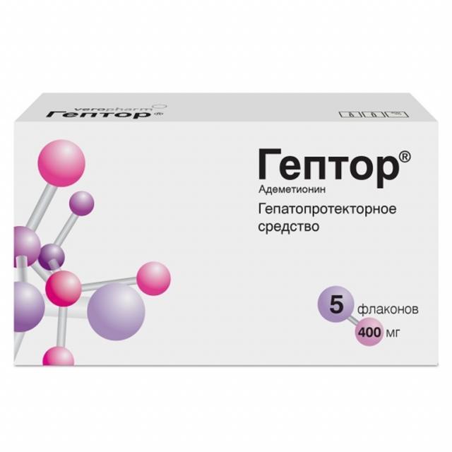 Гептор лиофилизат для приготовления раствора 400мг №5 купить в Москве по цене от 1384.5 рублей