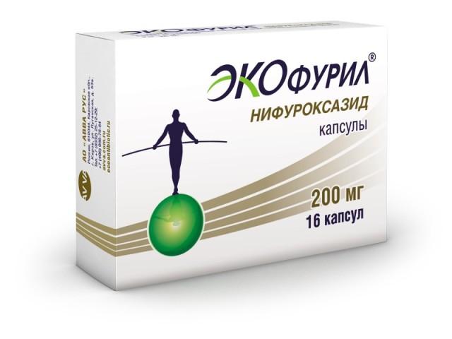 Экофурил капсулы 200мг №16 купить в Москве по цене от 259 рублей