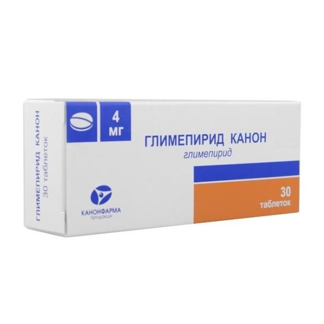 Глимепирид Канон таблетки 4мг №30 купить в Москве по цене от 269 рублей