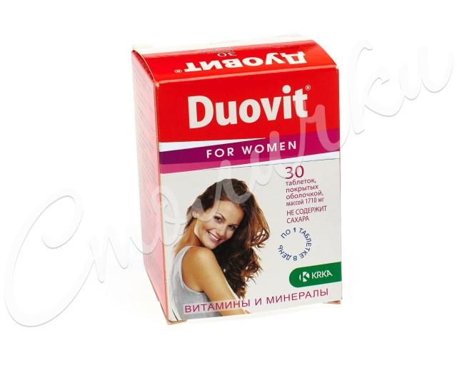 Дуовит для женщин таблетки п.о №30 купить в Москве по цене от 645 рублей