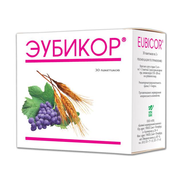 Эубикор порошок 3г №30 купить в Москве по цене от 278 рублей