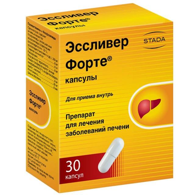 Эссливер форте капсулы №30 купить в Москве по цене от 341 рублей