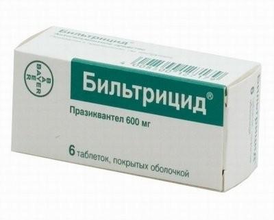 Бильтрицид таблетки п.о 600мг №6 купить в Москве по цене от 478 рублей