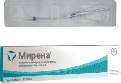 Мирена спираль внутриматочная 20мкг/сут купить в Москве по цене от 14160 рублей