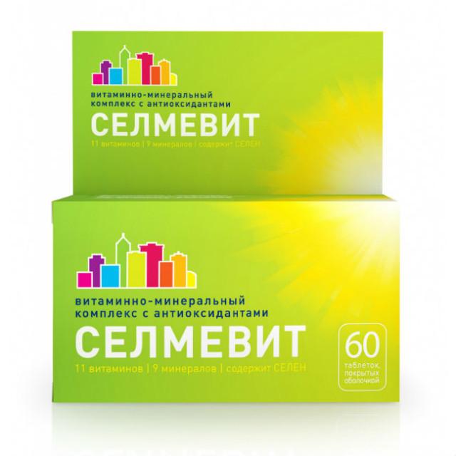 Селмевит таблетки п.о №60 купить в Москве по цене от 297 рублей