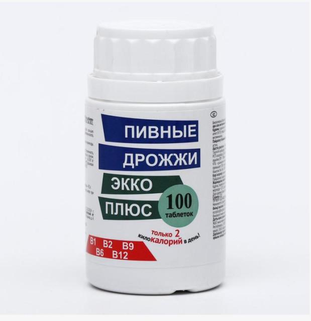 Дрожжи пивные Экко плюс таблетки №100 купить в Москве по цене от 117 рублей