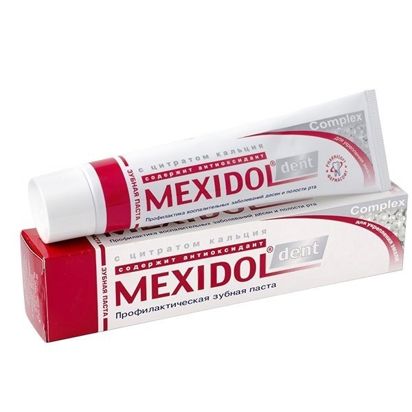 Мексидол Дент зубная паста Комплекс 65г купить в Москве по цене от 131 рублей