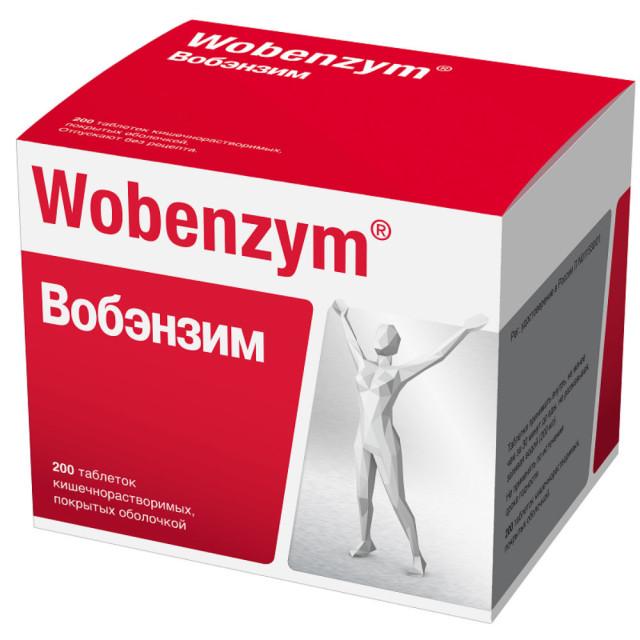 Вобэнзим таблетки п.о №200 купить в Москве по цене от 2420 рублей