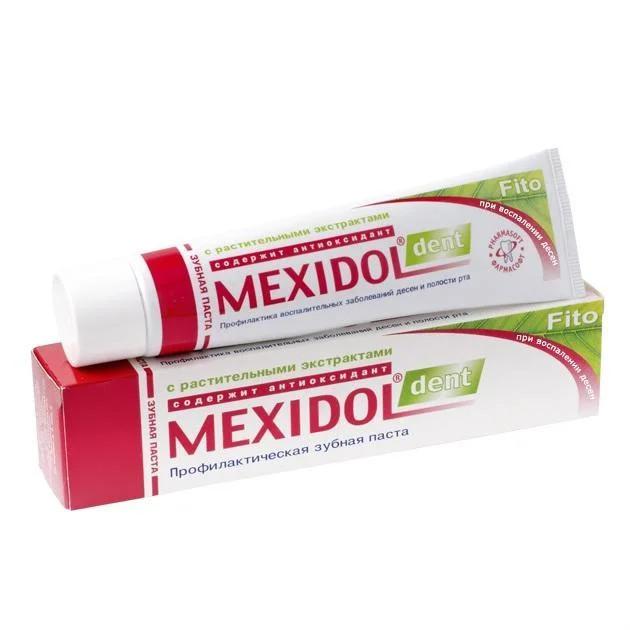 Мексидол Дент зубная паста Фито 65г купить в Москве по цене от 160 рублей
